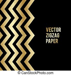Banner design. Abstract template background with gold zigzag...
