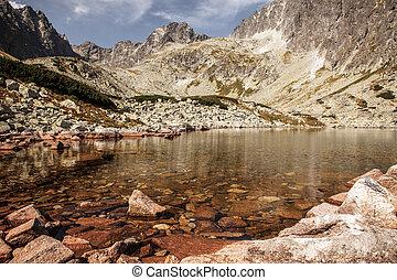 Tarn Batizovske pleso in High Tatras, Slovakia - Tarn...