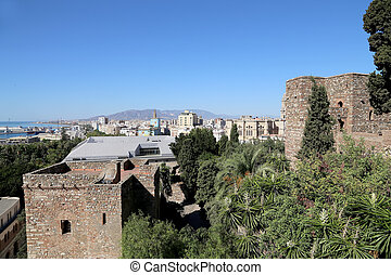 Alcazaba castle on Gibralfaro mountain - Alcazaba castle on...