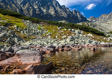 Lake Batizovske pleso in High Tatras, Slovakia - Lake...
