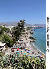 View from Balcon de Europa in Nerja, Spain