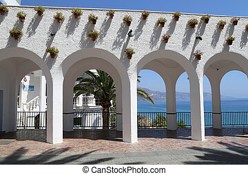 Balcon de Europa in Nerja, Andalusia, Spain. It is on the...