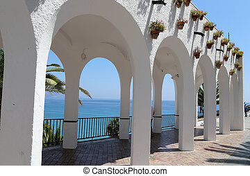 Balcon de Europa in Nerja, Andalusia, Spain It is on the...