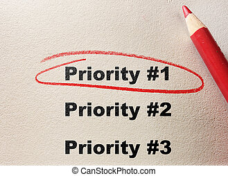 Top Priority - Priority #1 circled with red pencil...