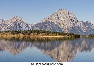 Jackson Lake in Grand Teton National Park Wyoming