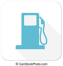 petrol blue flat icon