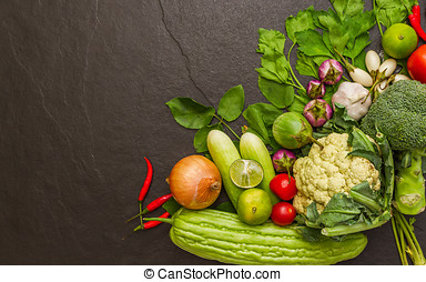 Vegetables for cooking.