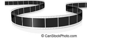 Photo film - Vector illustration of standard photo or movie...