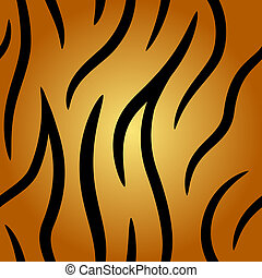 Seamless tiger pattern - Seamless tiger fell vector pattern