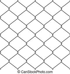 Chainlink fence seamless background - Realistic wire...