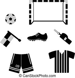 futbol - different objects associated with soccer