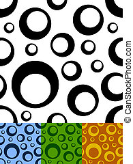 Seamless circles pattern - Circles two tone seamless vector...