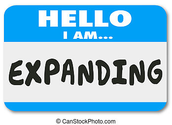 Hello I Am Exampanding Growth Increased Success Nametag Sticker
