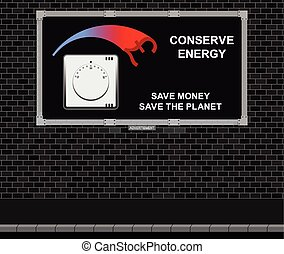 Conserve energy advertising board - Advertising board on...