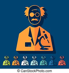 Flat design: scientist