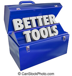 Better Tools Blue Metal Toolbox Improve Skills Top Premium Effective Productive Equipment