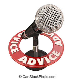 Advice Microphone Talk Show Host Sharing Tips Information...