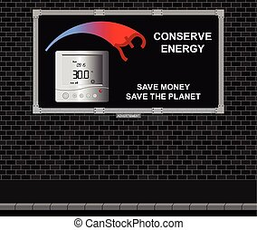 Conserve energy advertising board