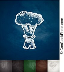 nuclear explosion icon. Hand drawn vector illustration....