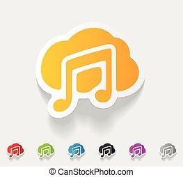 musical note - realistic design element musical note