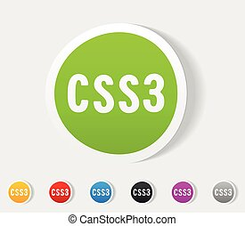 realistic design element. CSS3