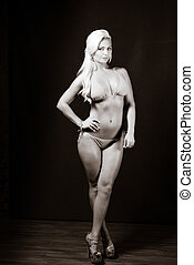 Physically Fit Caucasian Blonde Female - Physically fit...