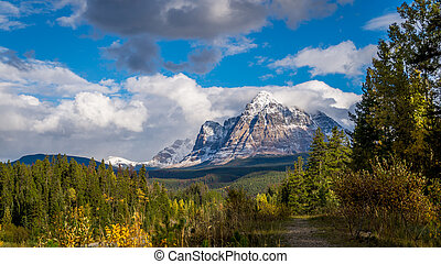Mount Fitzwilliam in Jasper Nationa - Mount Fitzwilliam is...