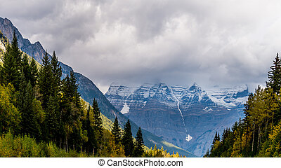 Mount Robson in Dark Clouds - Mount Robson in the Provincial...