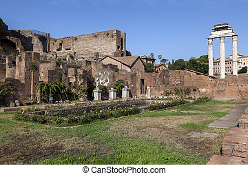 House of the Vestal Virgins at the Palatine Hill - ROME,...