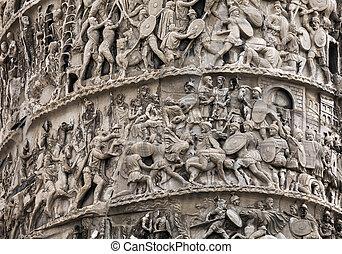 Fragment of the Column of Marcus Aurelius - Column of Marcus...