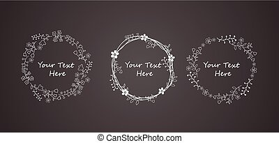 Autumn Floral Frame Collections - Illustration of Autumn...