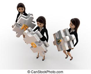 3d woman ROI concept
