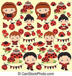 background ladybug party