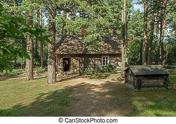 old house in forest - Old rural house restored and...