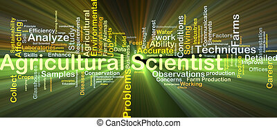 Agricultural scientist background concept glowing -...