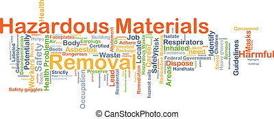 Hazardous materials removal background concept - Background...