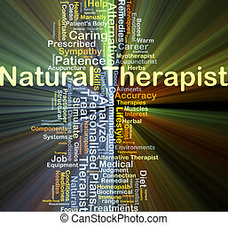 Natural therapist background concept glowing - Background...