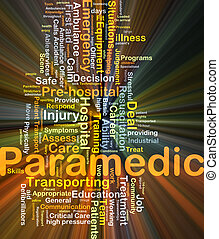 Paramedic background concept glowing - Background concept...