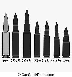 bullets Vector illustration