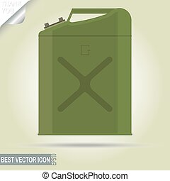 Gasoline jerry can, 5 gallon - vector illustration