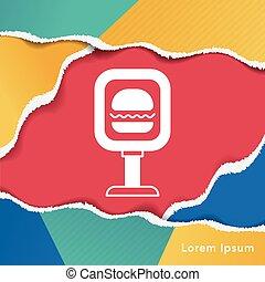 fastfood shop sign
