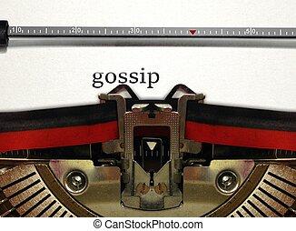 typewriter gossip