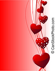 Valentine day background - Beautiful red Valentines day...