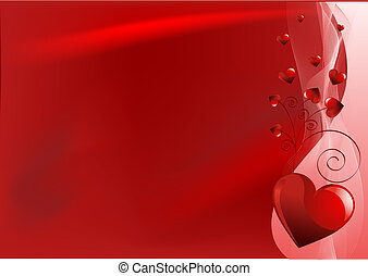 Red Valentine\'s day background - Grange vector Valentine...