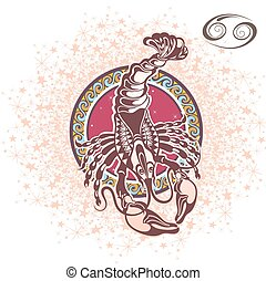 Cancer. Zodiac sign - Zodiac symbol for your design