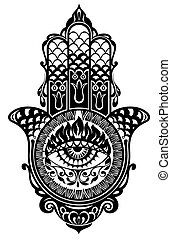 Hamsa hand - Decorative hamsa illustration