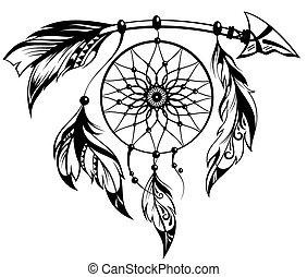 Dream catcher - Hand drawn illustration of dream catcher