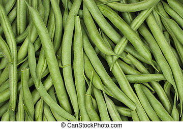 string beans on the table close-up background