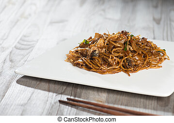 Fried Penang Char Kuey Teow which is a popular noodle dish...