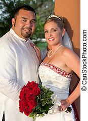 Happy Bride And Goom